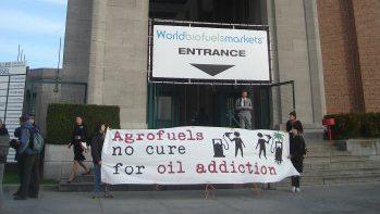 Blockade at World Biofuels Market in Brussels