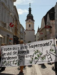 On the Streets for Food Sovereignty and against Supermarkets