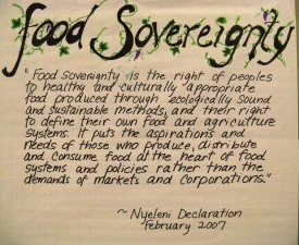 Food Sovereignty, food in your own hands