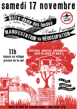 Eviction of farms in France. Struggle against airpost continues