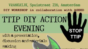TTIP DIY action evening in the Vrankrijk