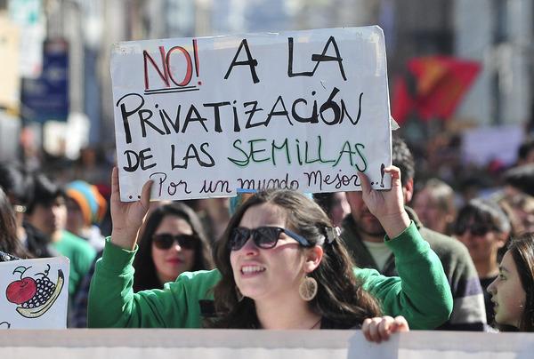 Manifestación, No a la Ley Monsanto