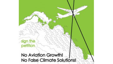 No aviation growth! No false climate solutions!