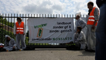 Succesvolle blokkade van Monsanto bij Bergschenhoek