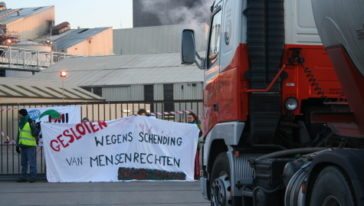 17 April: Activisten blokkeren Cargill in Gent
