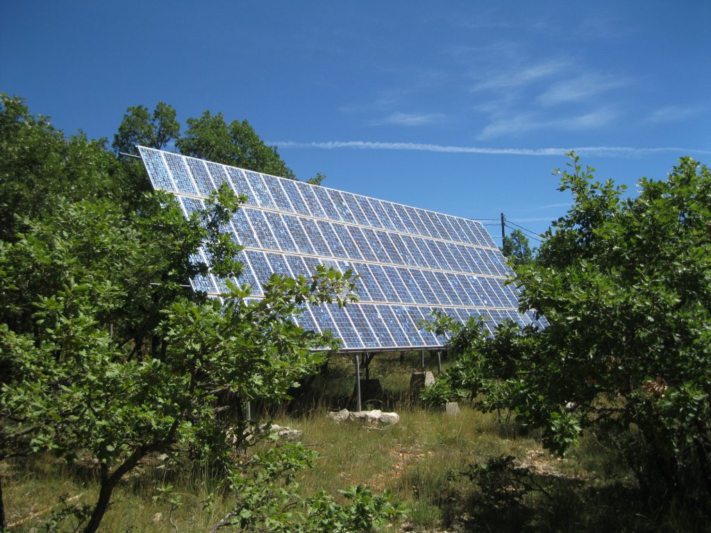 Solar Panels on the Hill at Longo Mai