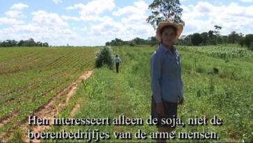 Videoboodschappen over de strijd tegen soja in Paraguay