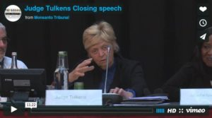 Judge Tulkens Monsanto Tribunal
