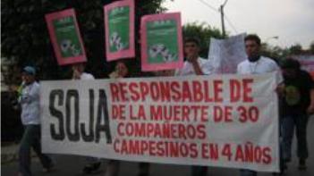 Flyeractie tegen Unilevers deelname aan greenwash-soja