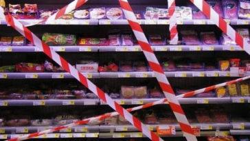 Vleesafdeling supermarkt gesloten