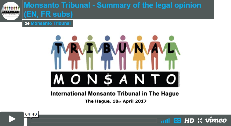 Monsanto Tribunal summary video