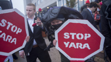"Creatures from the earth rise up: ""Stop Yara!"""