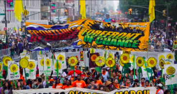 Bloc for Radical Climate Justice during 10/03 Climate March in Amsterdam